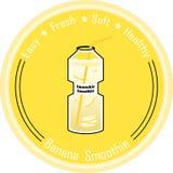 Frullato della banana Immagine Stock