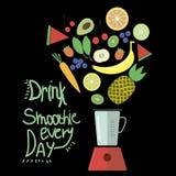 Frullato della bevanda ogni giorno Fotografie Stock Libere da Diritti