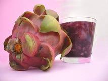 Frullato della frutta del drago Fotografia Stock