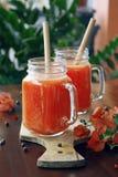 Frullato della papaia Fotografia Stock Libera da Diritti