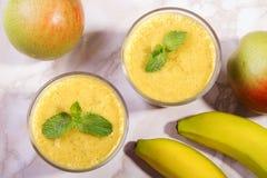 Frullato della pera e della banana Immagine Stock Libera da Diritti