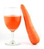 Frullato fresco con le carote  Fotografie Stock Libere da Diritti