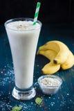 Frullato fresco della banana Fotografia Stock Libera da Diritti