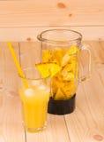 Frullato tropicale dell'ananas Immagini Stock Libere da Diritti