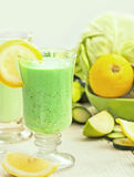 Frullato verde Fotografia Stock