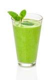 Frullato verde con la menta Fotografie Stock