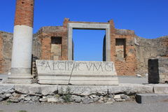 Fórum romano de Pompeia Foto de Stock Royalty Free
