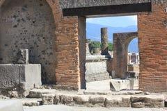 Fórum romano de Pompeia Fotografia de Stock Royalty Free