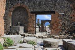 Fórum romano de Pompeia Fotos de Stock Royalty Free