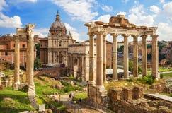 Fórum romano em Roma Foto de Stock Royalty Free