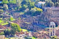 Fórum romano, Roma Italy Fotografia de Stock