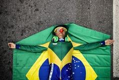 Frunce de los millares para una protesta anticorrupción en Sao Paulo, Br Fotografía de archivo libre de regalías
