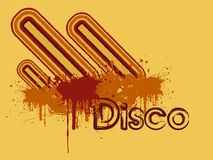 Frunge disco background Royalty Free Stock Image