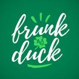 Frunk como pato Fotografía de archivo libre de regalías