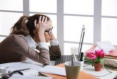 Frustated Geschäftsfrau Lizenzfreies Stockbild