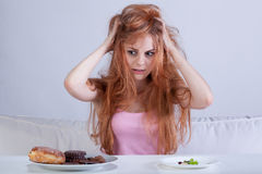 Frustração da dieta Foto de Stock
