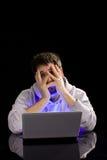 Frustração do computador Foto de Stock Royalty Free