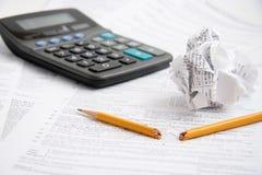 Frustrações do tempo do imposto Foto de Stock Royalty Free