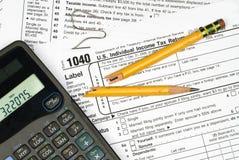 Frustración de los impuestos de la clasificación Imagen de archivo libre de regalías