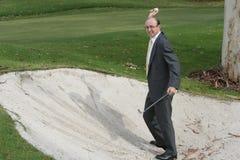 Frustración del golf Fotografía de archivo libre de regalías
