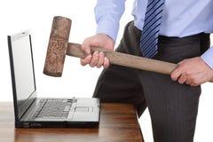 Frustración del ordenador Foto de archivo libre de regalías