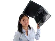 Frustración del ordenador Fotografía de archivo libre de regalías