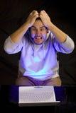 Frustración del ordenador Foto de archivo