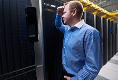 Frustración del servidor imágenes de archivo libres de regalías