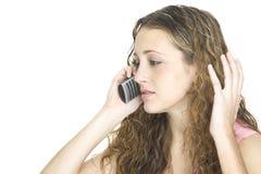 Frustración del teléfono Imagenes de archivo