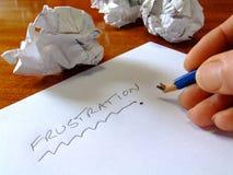 Frustración Foto de archivo libre de regalías
