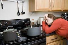 Frustraciones de la cocina imagenes de archivo
