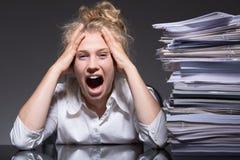 Frustracja i stres obrazy royalty free