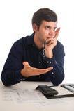 Frustrado por Imposto Imagens de Stock Royalty Free