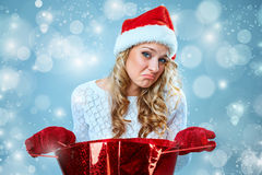 Frustrated and annoyed beautiful young woman in Royalty Free Stock Image