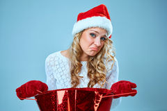 Frustrated and annoyed beautiful young woman in Royalty Free Stock Photos