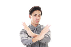 Frustrated Asian businessman Royalty Free Stock Photos