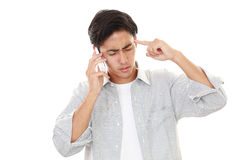 Frustrated Asian sman Stock Image