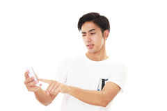 Frustrated Asian sman Royalty Free Stock Images