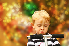 Frustrated blond boy Stock Photos