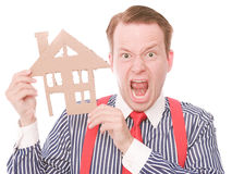 Free Frustrated Business Houseowner Stock Images - 54281184