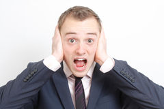 Frustrated business man Royalty Free Stock Photography