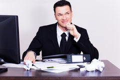 Frustrated business man Stock Photo
