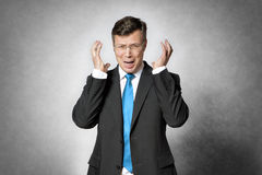 Frustrated business man Stock Images