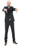 Frustrated business man showing thumbs down Stock Image