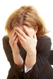 Frustrated business woman Stock Image