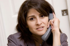 Frustrated business woman Royalty Free Stock Photography