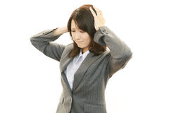 Frustrated Business woman Royalty Free Stock Photos