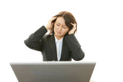 Frustrated Business woman Stock Images