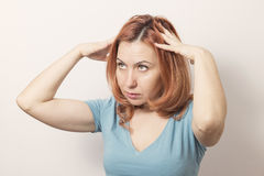 Frustrated business woman Stock Photos