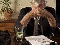 Frustrated businessman Royalty Free Stock Photo